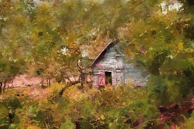 Painting - Forgotten Cottage From Yesteryear by Georgiana Romanovna