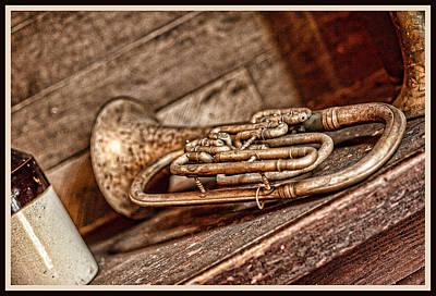 Euphonium Photograph - Forgotten Music by Sheri Bartoszek