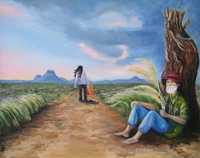 Karoo Painting - Forgotten by Tersia Brooks