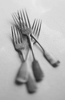 Kitchen Art Photograph - Forks by John Wong