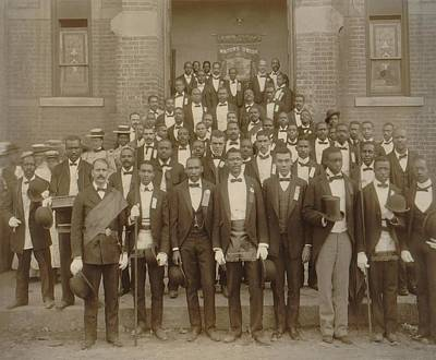 Jim Crow South Photograph - Formally Dressed African American Men by Everett