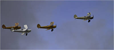 Historic Aviation Photograph - Formation Flying by Nigel Jones