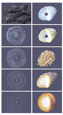 Accreting Photograph - Formation Of The Solar System by Gary Hincks