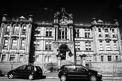 Former Kilmarnock Technical School And Academy Building Now Academy Apartments Scotland Uk Art Print by Joe Fox