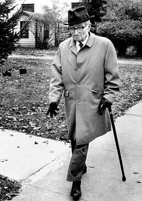 Former President Harry Truman Walks Art Print by Everett