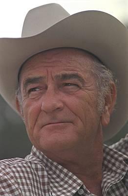 Cowboy Hat Photograph - Former President Lyndon Johnson. Lbj by Everett
