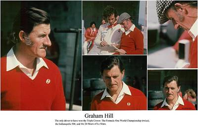 Photograph - Formula One Champion Graham Hill by Don Struke