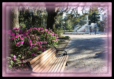 Forsyth Park In Spring Pink Print by Carol Groenen