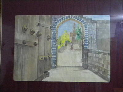 Painting - Fort Gate by Seema Sharma
