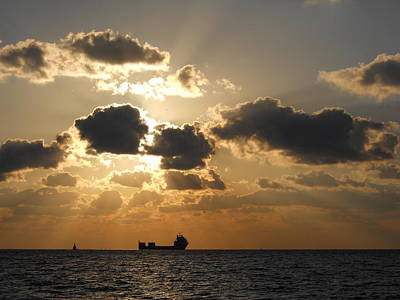 Art Print featuring the photograph Fort Lauderdale Sunrise by Clara Sue Beym