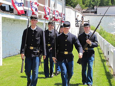 Photograph - Fort Mackinac Troops by Keith Stokes