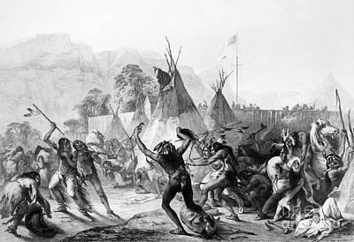 1833 Photograph - Fort Mckenzie, 1833 by Granger