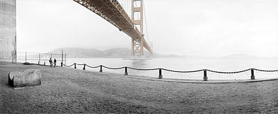 Photograph - Fort Point And Golden Gate Bridge by Jan W Faul