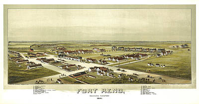 Fort Reno Oklahoma Territory 1891 Art Print by Donna Leach