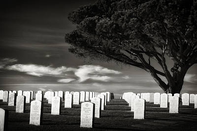 Outdoor Graphic Tees - Fort Rosecrans National Cemetery by Paul Bartell