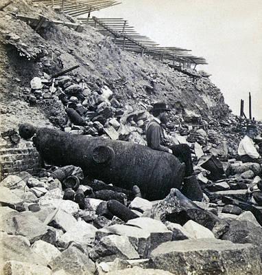 Fort Sumter Civil War Debris - C 1865 Art Print by International  Images