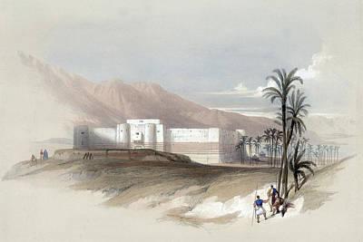Photograph - Fortress Of Akabah Arabia Petra 1839 by Munir Alawi