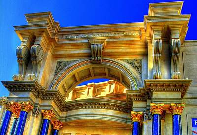 Art Print featuring the photograph Forum Shops Arch by Linda Edgecomb