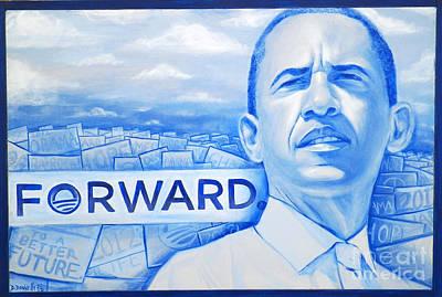 Forward Obama 2012 Art Print by Derek Donnelly