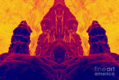 Phantasm Digital Art - Fossilized Dwarf by Michal Boubin