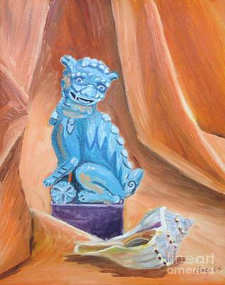 Painting - Fou Dog And Sea Shell by Rod Ismay