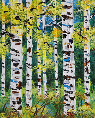 Birch Trees Painting - Found Beauty by Jill Saur