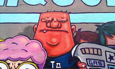 Found Graffiti 29 La Fang Print by Jera Sky