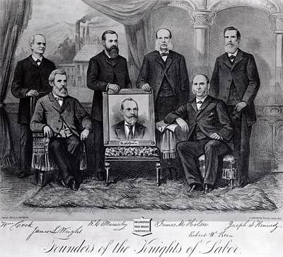 Founders Of The Knights Of Labor Art Print by Everett