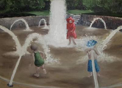 Painting - Fountain by Angela Stout