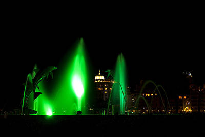 Photograph - Fountain Bay - Green by Nicholas Evans