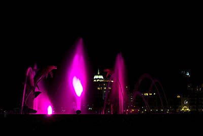 Photograph - Fountain Bay - Purple by Nicholas Evans