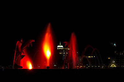 Photograph - Fountain Bay - Red by Nicholas Evans
