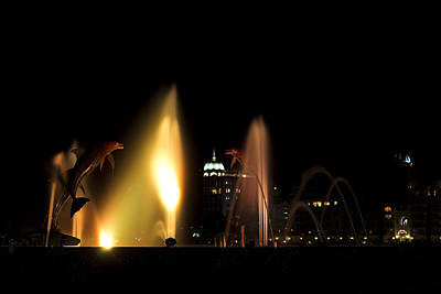 Photograph - Fountain Bay - Yellow by Nicholas Evans