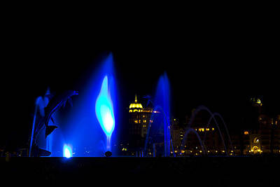 Photograph - Fountain Bay  Blue by Nicholas Evans