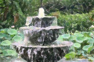 Art Print featuring the photograph Fountain by Donna  Smith