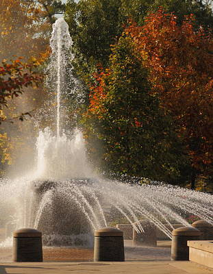 Photograph - Fountain In Fall by Coby Cooper