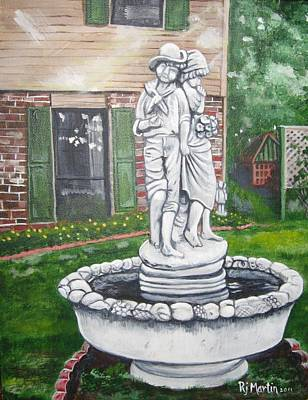 Painting - Fountain In The Garden by Roberta Martin