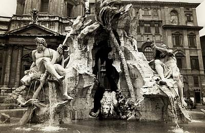 Photograph - Fountain Of The Four Rivers In Piazza Navona by Emanuel Tanjala
