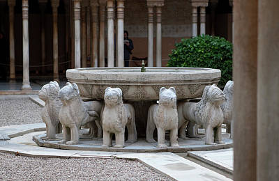 Photograph - Fountain Of The Lions by Lorraine Devon Wilke