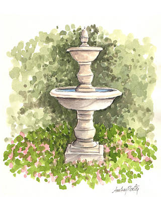Painting - Fountain One by Audrey Peaty