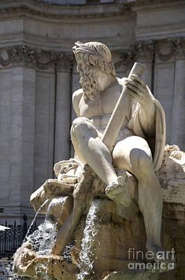Fountain. Piazza Navona. Rome Art Print by Bernard Jaubert