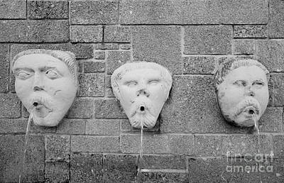 Coming Out Photograph - Fountain With Three Faces by Will & Deni McIntyre
