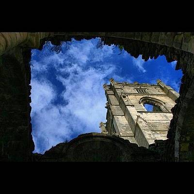 Dungeon Photograph - Fountains Abbey From The Dungeon by Chris Barber