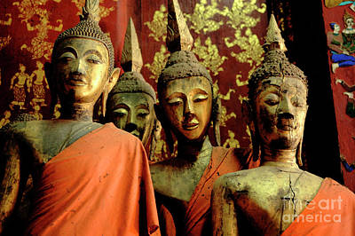 Photograph - Four Buddhas Of Laos by Bob Christopher