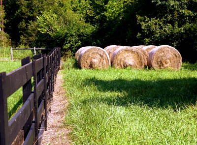Tennessee Hay Bales Photograph - Four Corners by Karen Wiles