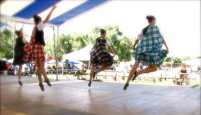 Sottish Photograph - Four Dancers In Air by Terry Zeyen