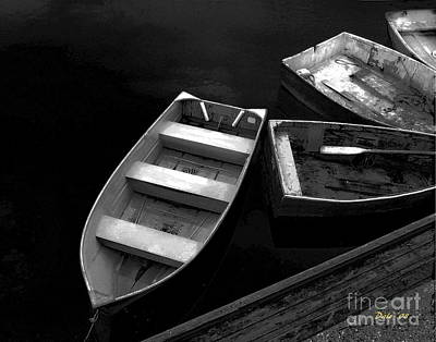 Digital Art - Four Dinghies by Dale   Ford
