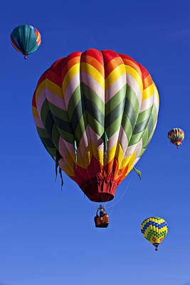 Photograph - Four Hot Air Balloons by Garry Gay
