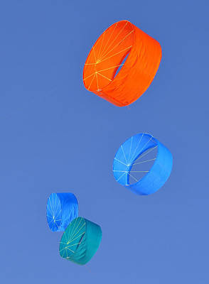 Kite Photograph - Four Kites by David Lee Thompson