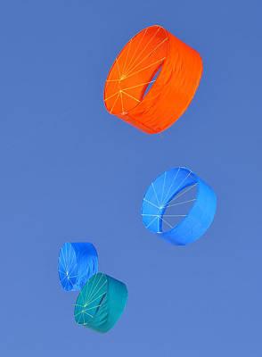 Kite Flying Photograph - Four Kites by David Lee Thompson